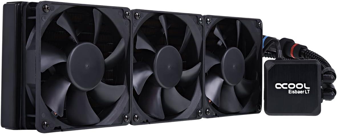 ALPHACOOL Ventilador CPU Ref. LIQUIDA EISBAER LT360 Negro RELLENABLE/Ampliable/3 Ventiladores/MULTISOCKET 1013982