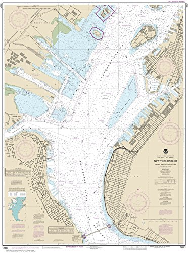 NOAA Chart 12334 New York Harbor Upper Bay and Narrows-Anchorage Chart: 46.72