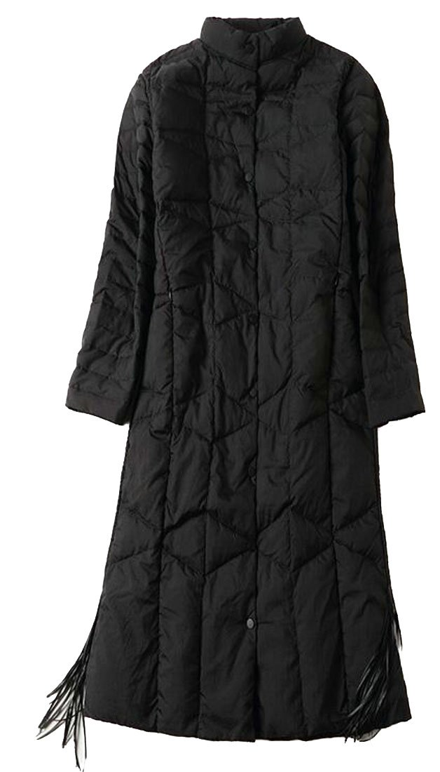 ouxiuli Women Premium Slim Fit Puffer Down Coat Black S