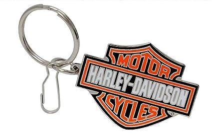 Harley Davidson Llavero de Metal con Logotipo: Amazon.es ...