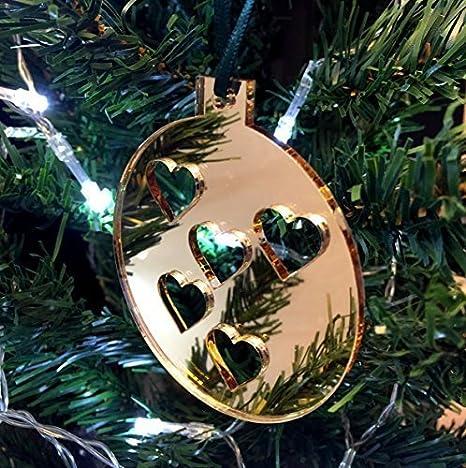 Super Cool Creations Bola Corazones Adornos para Árbol de Navidad ...