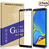 [2-Pack] Samsung Galaxy A7 /A750 (2018) Full Coverage Tempered Glass Screen Protector, Zeking Max Coverge [Anti Scratch][Anti-Fingerprint] Bubble Free