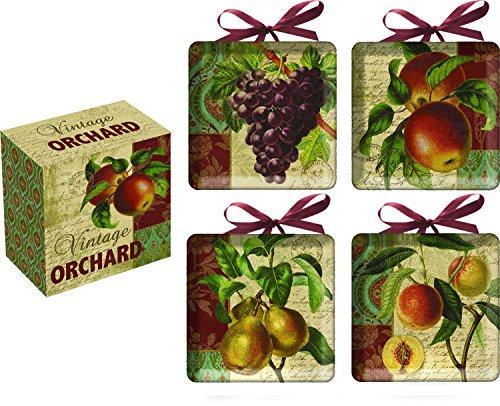 Vintage Orchard Ceramic Decorative Mini Plates Set of 4
