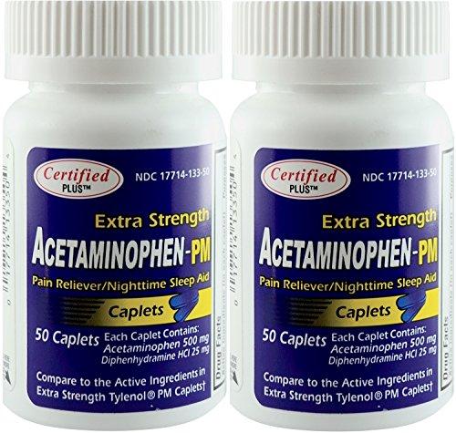 Acetaminophen Strength Antihistamine Nighttime Diphenhydramine product image