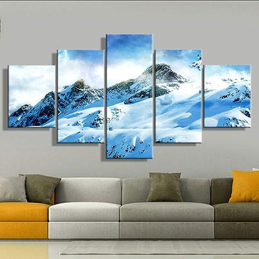 lglays Lienzo Impreso Moderno Pintura Modular Fotos 5 ...