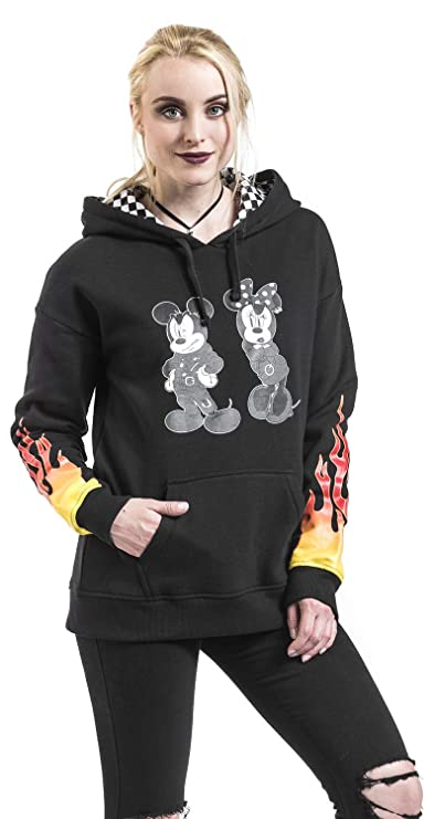 7c96865e46d901 Amazon.com  Vans Women s Disney X Punk Mickey Mouse Pullover Hoodie in Black  (X-Large)  Clothing