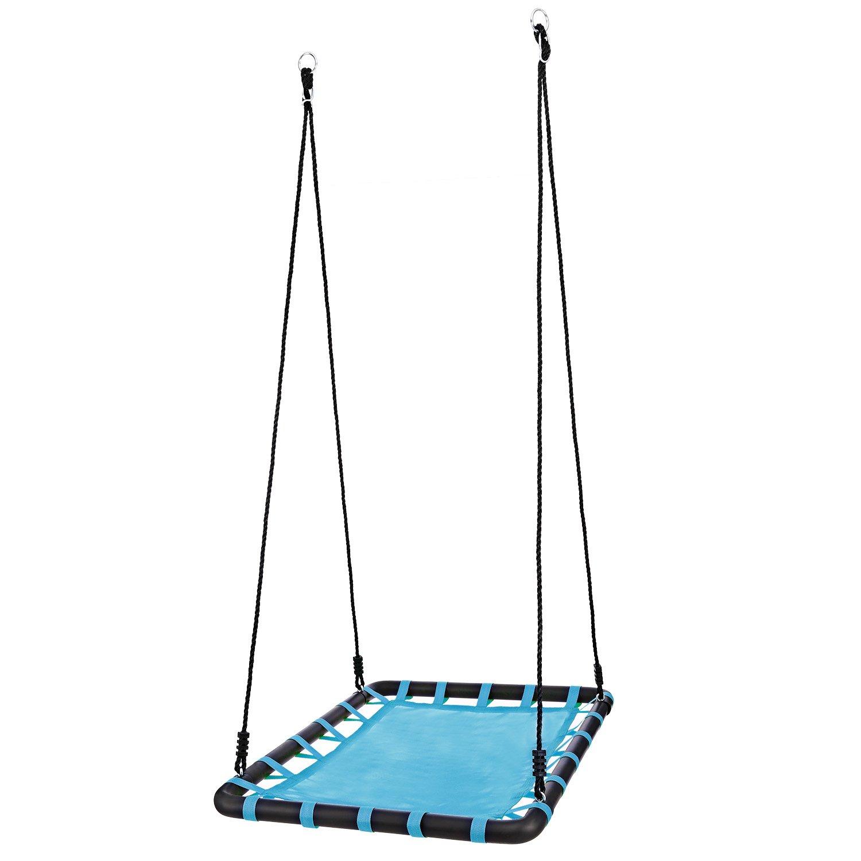 el precio más bajo Profun Columpio Infantil Columpio de Jardín para para para Niños Plataforma Rectangular 100CM75CM Swing con Cuerda de 2.5M Carga MAX de 100kg Columpio para Adultos y Niños Exterior (Azul)  Centro comercial profesional integrado en línea.