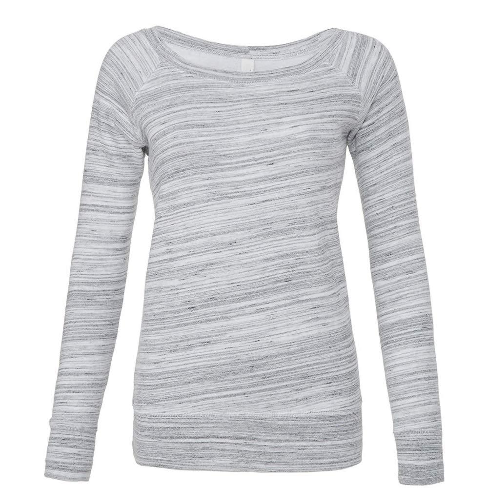 Bella Ladies//Womens Slouchy Wideneck Relaxed Fit Sweatshirt