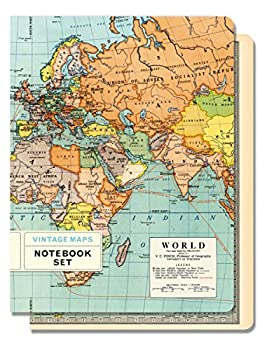 Cavallini & Co. Vintage Maps Set of 2 Notebooks