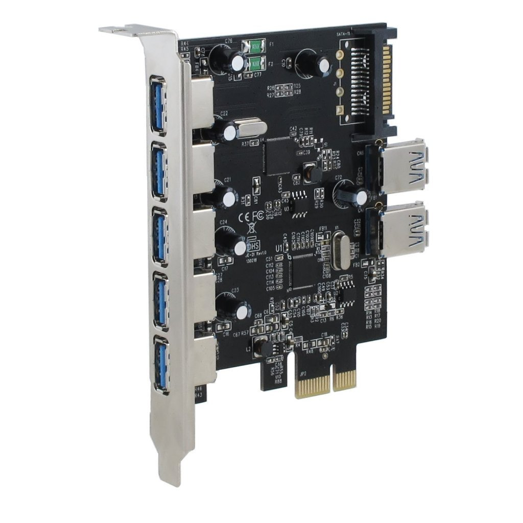 Sedna - PCI Express USB 3.0 7 Port Adapter (Support Win 8 Uasp, Super Fast Speed), SATA Power connector by Sedna (Image #3)