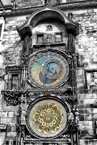 Black and White Print | Prague Print | - Astronomical Clock Prague