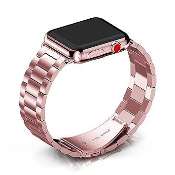 Amazon.com: Apple Watch banda, ancool Acero Inoxidable Metal ...