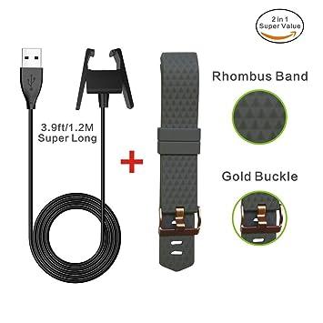 Fitbit Charge 2 de batería, Super largo cable carga rápida ...