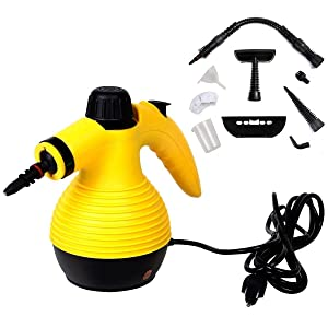 Goplus Handheld Multi-Purpose Pressurized Steam Cleaner, Sanitizer, Steamer, Steam Iron, 1050W, W/Attachments