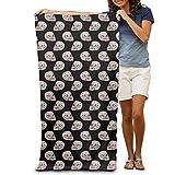 ONETAIWA Cool Skull Poker Adults Cotton Beach Towel 31 X 51-Inch