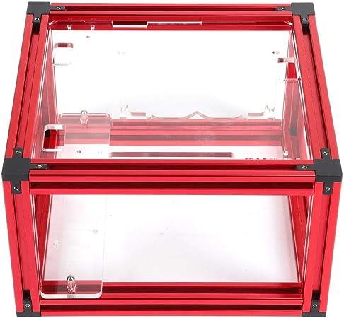 Wendry Mini Caja de la computadora ITX, Bricolaje Abrir Marco de Aluminio de aleación ITX Agua de refrigeración del PC Caja de la computadora del chasis con la Buena disipación(Rojo): Amazon.es: Electrónica