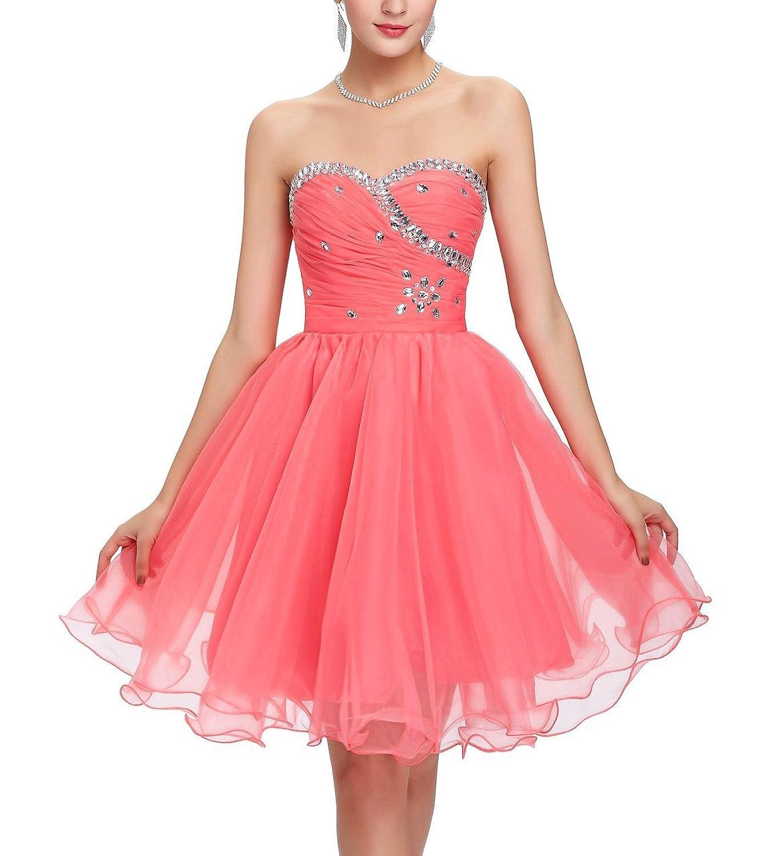 CoutureBridal® Tüll Korsett Kurzes Kleid für Cocktail ...