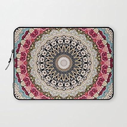 2b783f297354 Buteri 13 Inch Neoprene Laptop Bag Cover Case Compatible MacBook  Air/MacBook Pro-Mandala Hahusheze Patterns