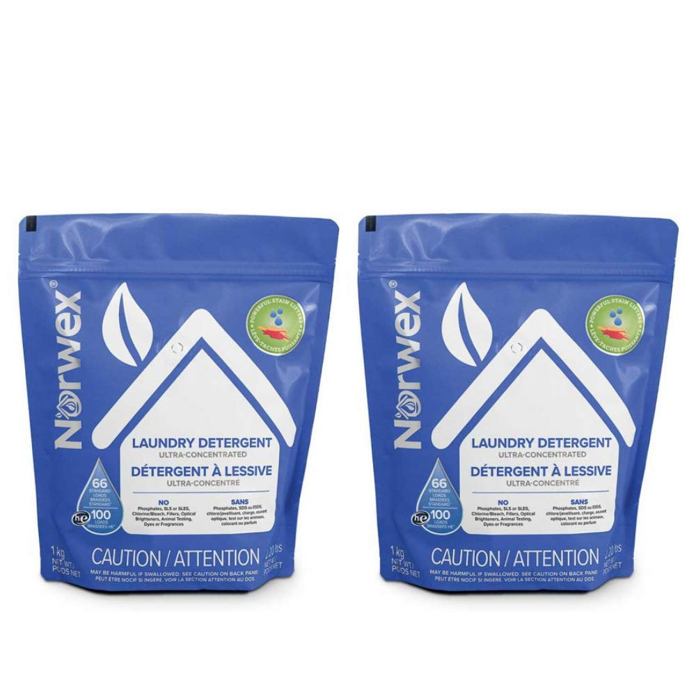 Norwex Ultra Concentrated Laundry Detergent (2 Bags)1 kg Each by Generic