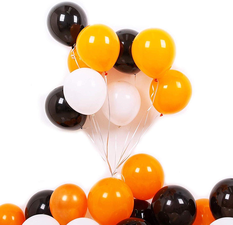 """12/"""" Orange Black Polka Dot Halloween Balloons White and Mix colour Xmas Party"""