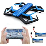JJRC H43WH Foldable Drone, Kingtoys Quadcopter Drone with WiFi 720P HD Camera, APP Control FPV Drone,Altitude Hold, and Headless Mode Function with 2pcs 200mAH Batteries