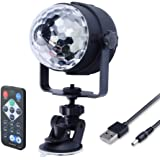 WOWTOU RGB LED Mini Disco Ball Party Light Show with Remote, Colored Sound Activated Strobe Lights for Dance Night Club Christmas Wedding DJ Lighting