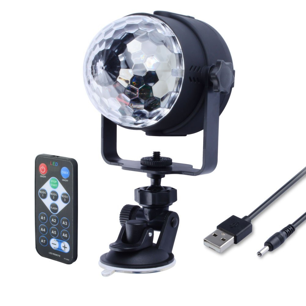 WOWTOU Mini Disco Ball RGB LED Home Party Light Show with Remot ...