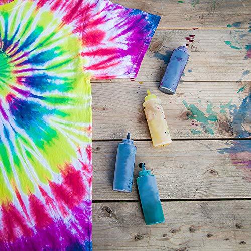 Caloyee Tie Dye Kit, 5 colores de tela de un paso teñido de camisa ...