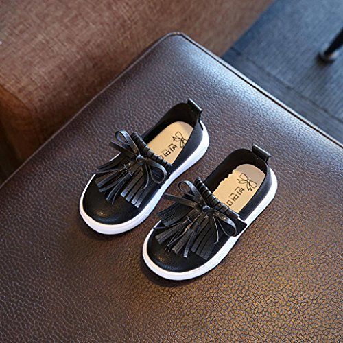Clode® Kleinkind Kinder Kinder Prinzessin Fashion Fringe Single Schuhe Sommer Mädchen Sandalen Schwarz