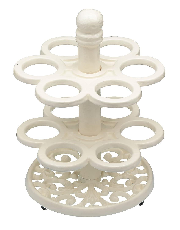 Amazon.com: Kitchen Craft 12-egg Holder, Cast Iron, White, 9 x 12 x ...