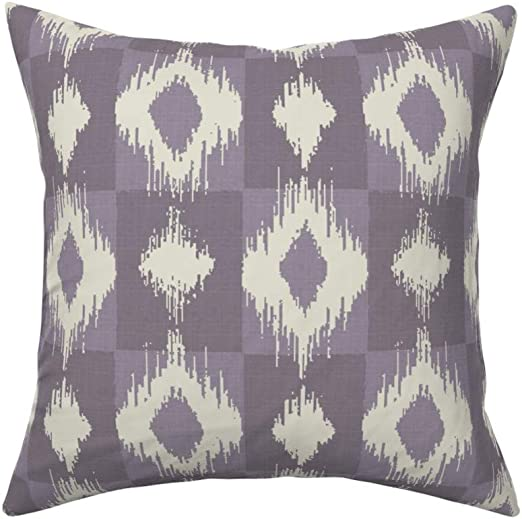 Purple Geometric Teal Abstract Throw Pillow Cover w Optional Insert by Roostery