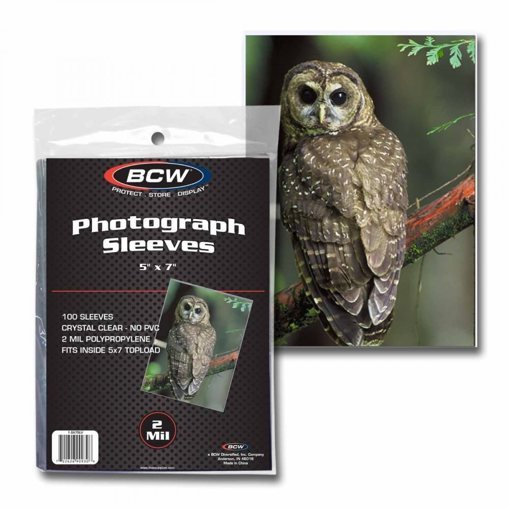 1 Case of 5000 BCW 5x7 Photo Sleeves by BCW