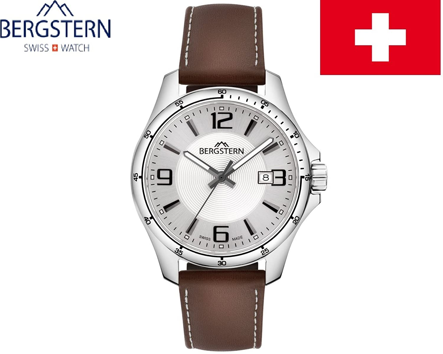 ARMBANDUHR HERREN KOLLEKTION ACTIVE BERGSTERN B015G078 whatch SWISS MADE hoher QualitÄt MADE IN SVIZZERA.Cinturino