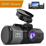 """Crosstour Mini Dashcam Caméra Embarquée pour Voiture 1080P Full HD 170°Grand-Angle 2"""" LCD avec HDR Capteur de Gravité, Détection de Mouvement et Vision Nocturne CR700"""