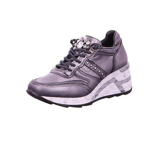 Cetti - Zapatillas para Mujer Gris Plomo, Color Plateado, Talla 36 EU: Amazon.es: Zapatos y complementos