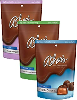 product image for Asher's Chocolates, Sugar Free Chocolate Bags, Diabetic Friendly Chocolate, Small Batches of Kosher Chocolate, Family Owned Since 1892, Keto Chocolate, 3 Bags (Variety Pack)