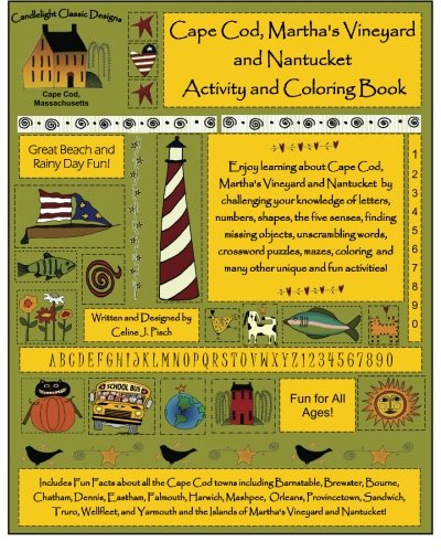 (Cape Cod, Martha's Vineyard and Nantucket Activity and Coloring Book)