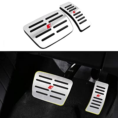 Moonlinks for Audi A4 A5 A6 A7 A8 Q5 SQ5 Q7/Porsche Macan Pedal Covers, Anti-Slip Aluminium Alloy Gas and Brake Pedal Cover Set(a Set of 2): Automotive