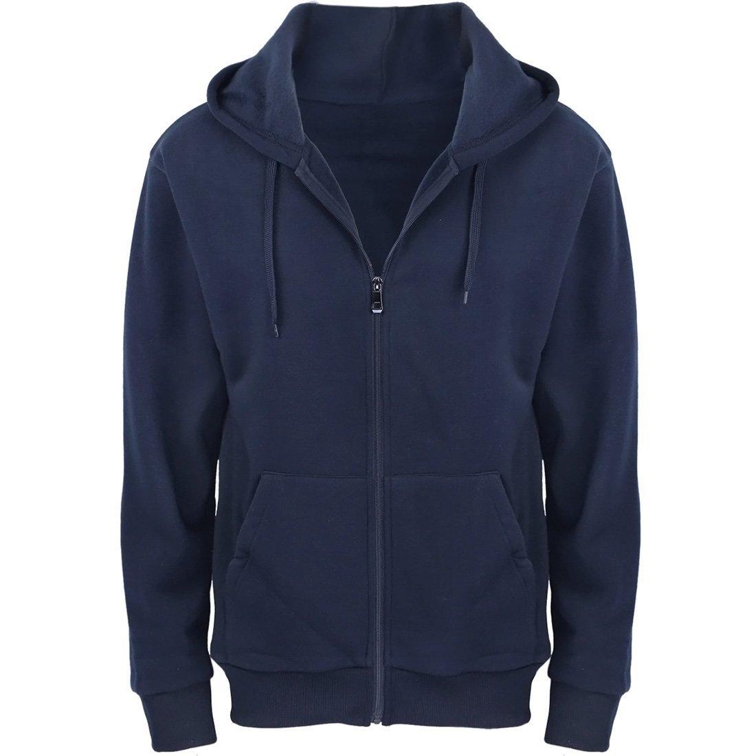 Gary Com Hoodies Men Midweight Fleece Full Zip Autumn Outwear Long Sleeve Active Jackets Sports Sweatshirts Big Tall