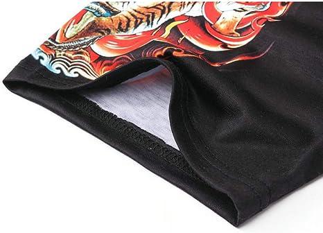 ❤Innerternet❤Camiseta de Manga Corta con Estampado Chino Digital 3D para Hombre, Sudadera Manga Corta Cuello Redondo Estampado, Camisa de Manga Corta de Impresión del tótem del dragón(Negro, M-XXL): Amazon.es: Ropa y accesorios