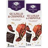 Vosges Haut-Chocolat Super Dark Guajillo and Chipotle Chili, Pack of 2, 3oz Bars
