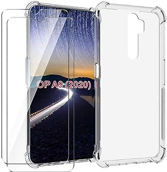 HYMY Funda para OPPO A9 (2020) Smartphone + 2 x Cristal Templado ...
