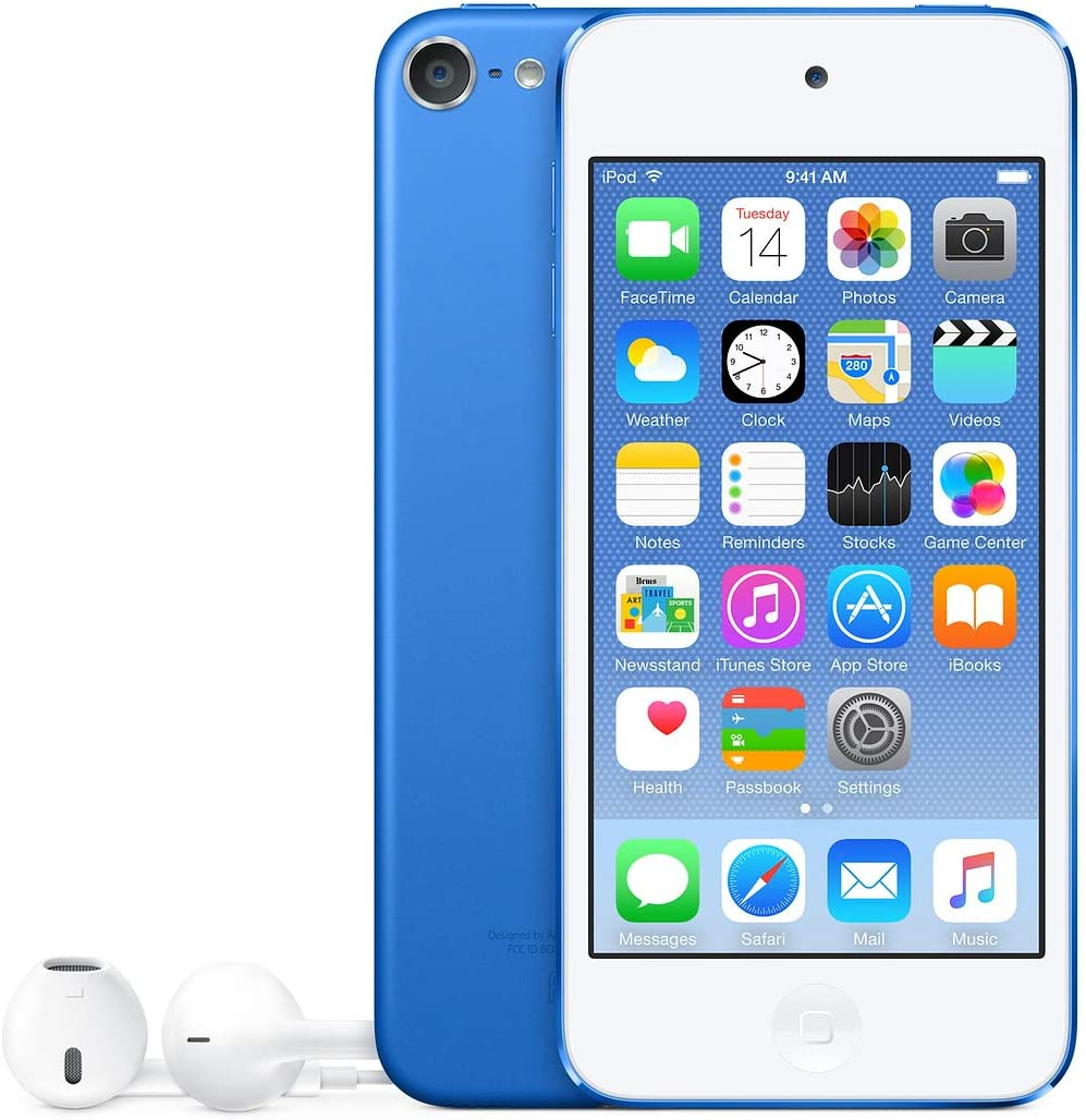 Original AppleiPod Compatible for mp3 mp4 Player Apple iPod Touch 5th gen 16GB Blue