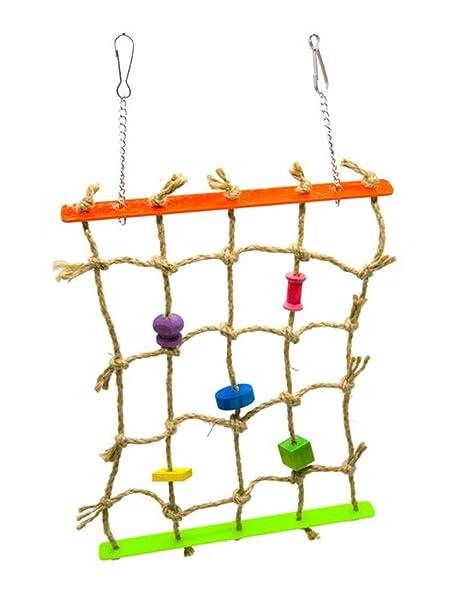 Hpybest - Jaula de Cuerda de algodón para Colgar en el Loro o ...