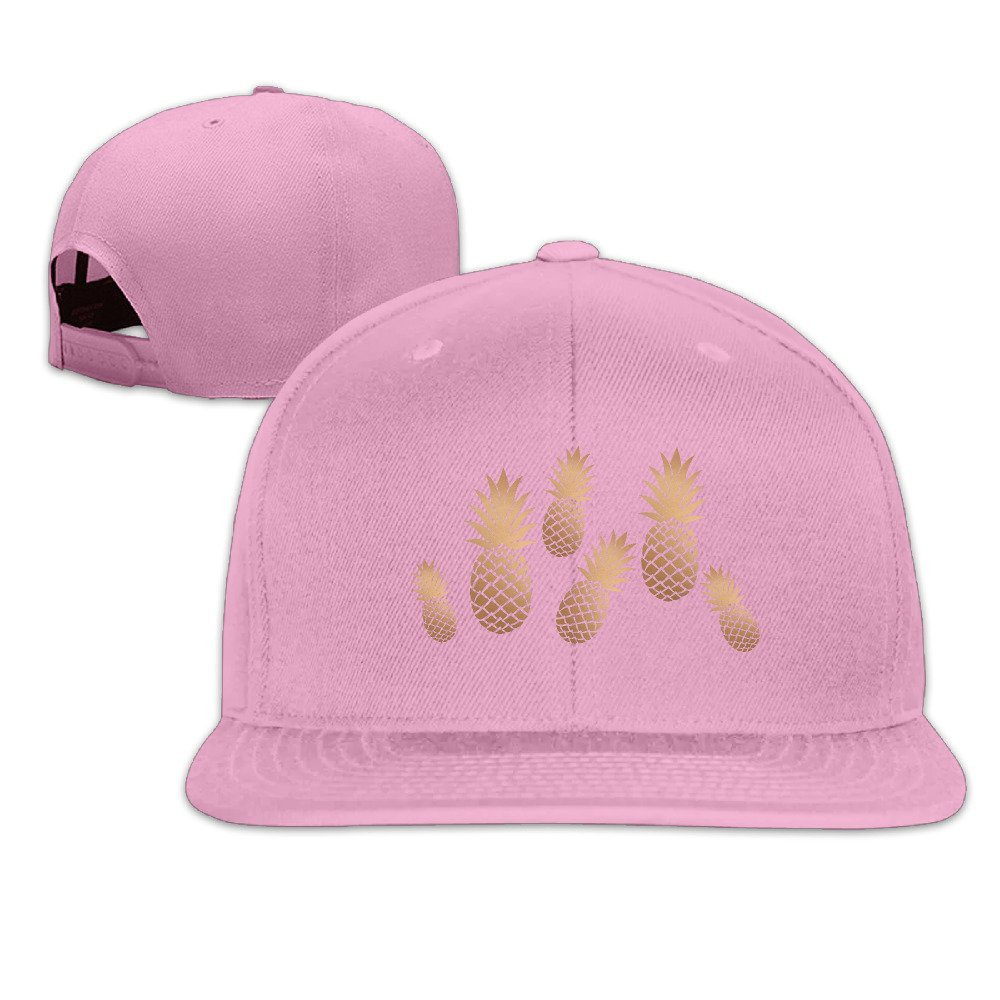 Pineapple Hip Hop Flat Bill Baseball Caps Solid Hip-Hop Snapback Cap Trucker Cap