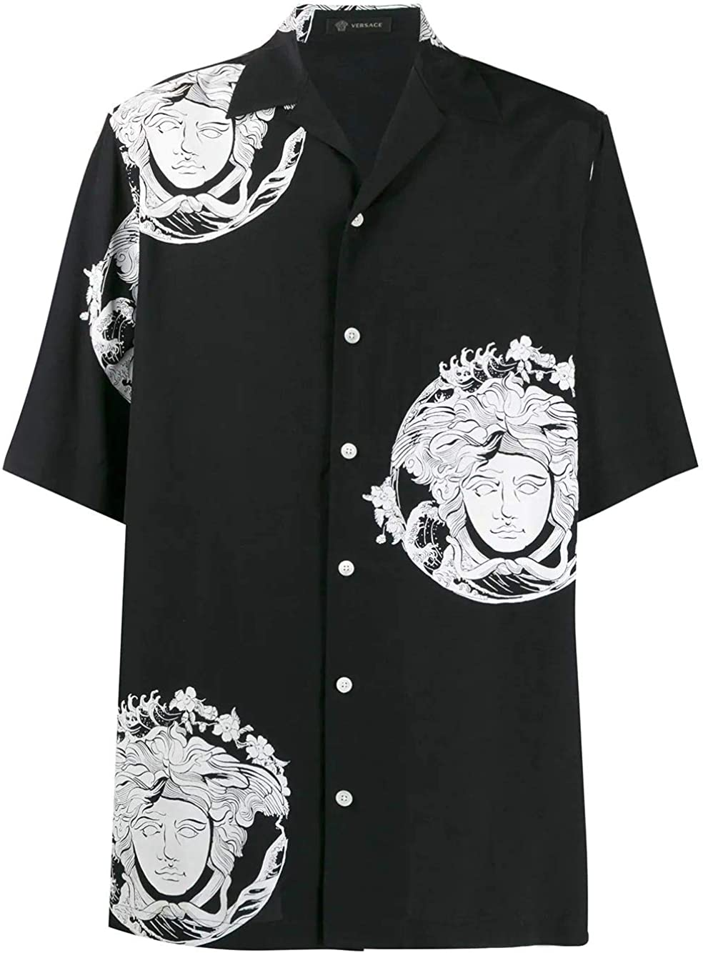Versace Luxury Fashion Hombre A81630A230635A71R Negro Camisa ...