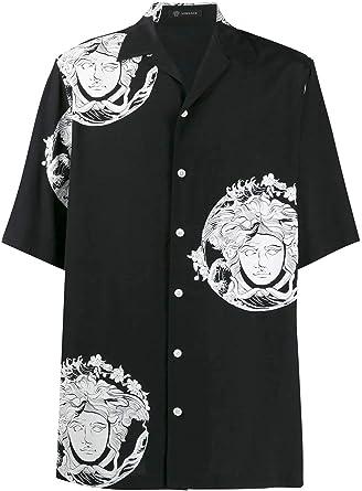 Versace Luxury Fashion Hombre A81630A230635A71R Negro Camisa | Otoño-Invierno 19: Amazon.es: Ropa y accesorios