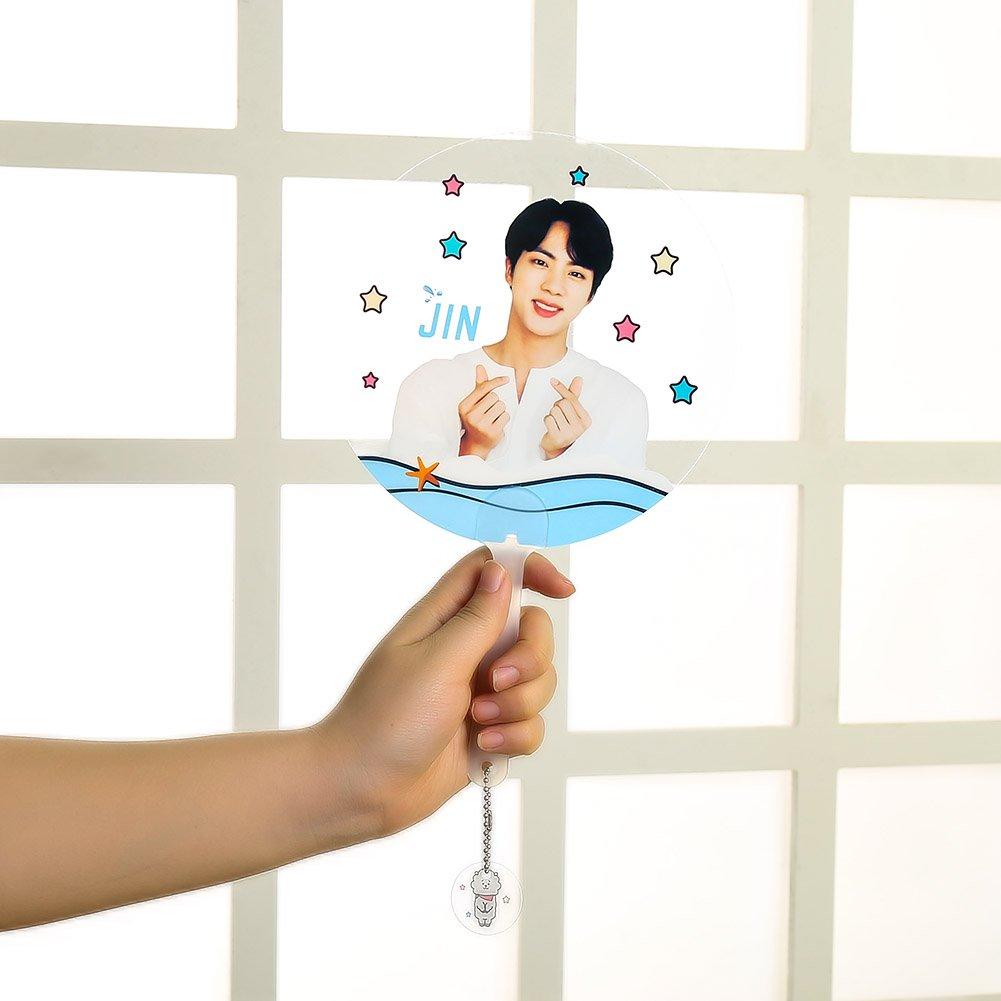 Yuxareen BTS Kpop transparent F/ächer f/ür GOT7/Wanna Mini Got7