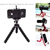 Mini Flexible Tripod Cell Phone Tripod Stand Sponge Octopus Stand Tripod Mount/Holder for Gopro iPhone Google HTC Camera Video etc (Black)