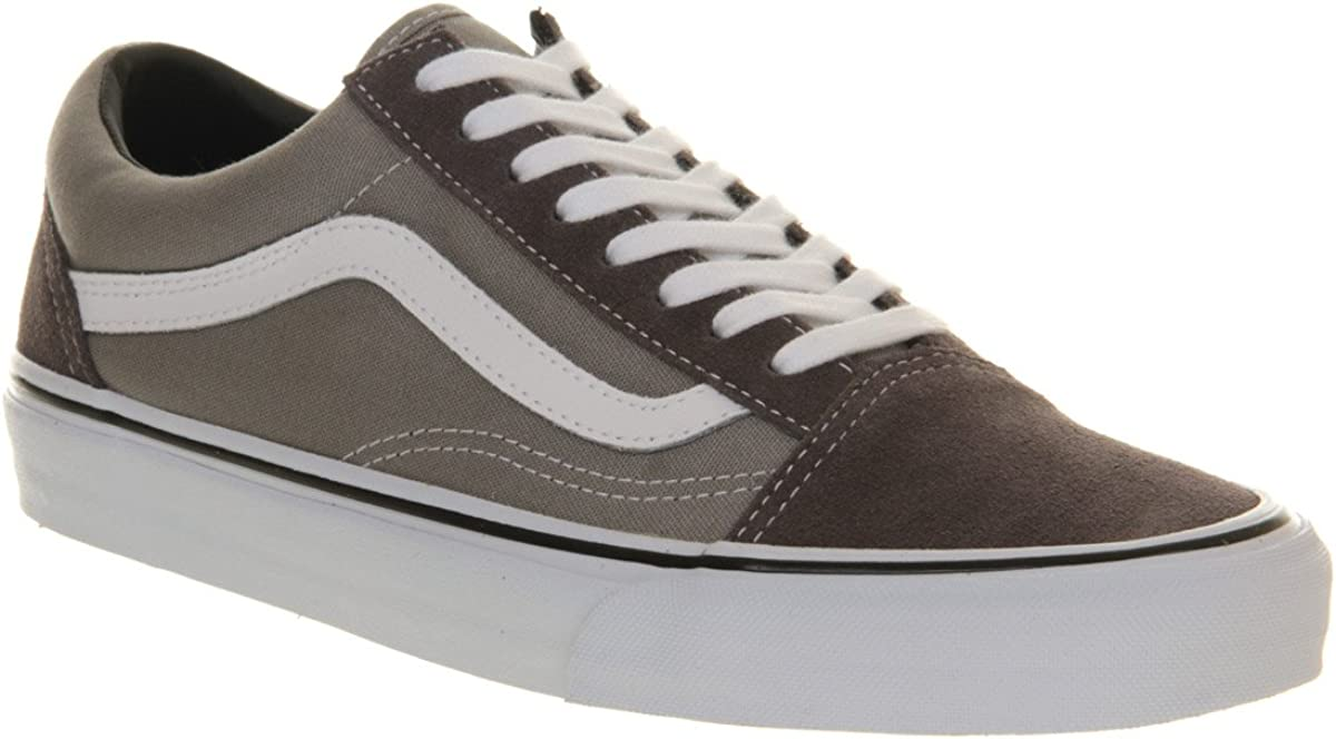 Vans Old Skool Charcoal Grey True White